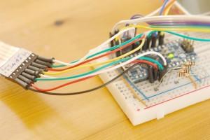 Keypad to analog pins.